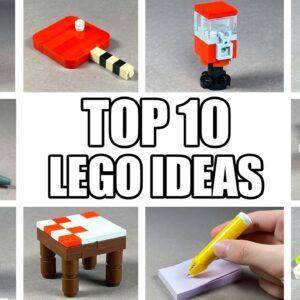 TOP 10 Easy LEGO Building Ideas Anyone Can Make