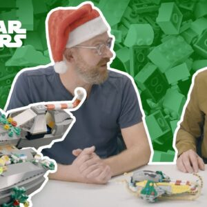 How To Decorate Star Wars Fighters for the Holidays | LEGO® Star Wars