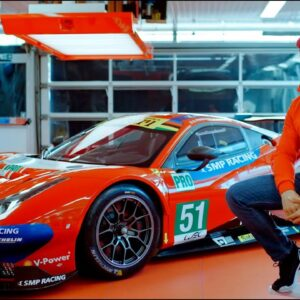 What does a real Ferrari racing driver think of the Technic version of his racing car?