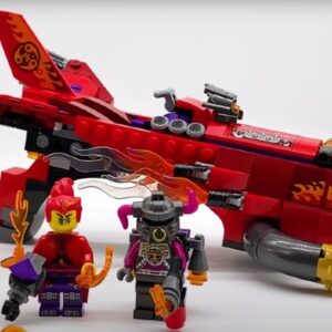 catch a better look at lego monkie kid 80019 red sons inferno jet