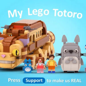lego ideas my lego totoro product idea achieves 10k support