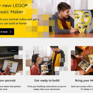 lego mosaic maker now available online
