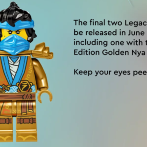 get a better look at the last two golden lego ninjago legacy minifigures