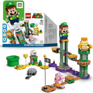 its official luigis getting his own lego super mario starter course