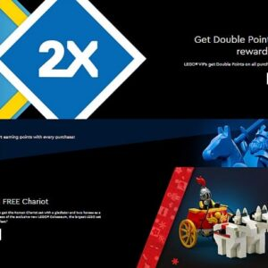 lego double vip points on all purchases