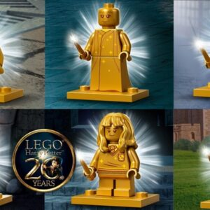 lego harry potter 20th anniversary golden minifigures revealed