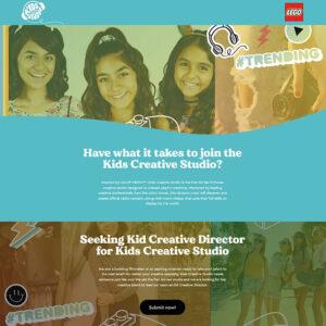 lego kids creative studio looking for director