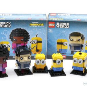 review lego minions rise of gru brickheadz 40420 40421