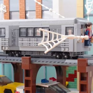 spider man 2s iconic train scene gets recreated in lego