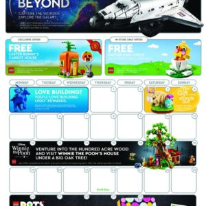 the april 2021 lego store calendar encourages builders to go beyond