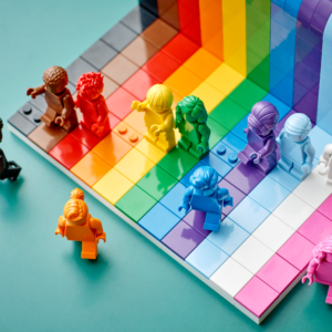 everyone is awesome lego to celebrate pride month and lgbtq inclusivity with commemorative monofigure set
