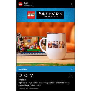 first image of lego friends coffee mug gwp
