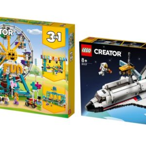 first look at new lego creator 3 in 1 space shuttle ferris wheel sets