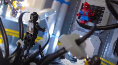 lego spider man encounters venomous villain in new build