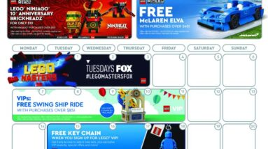 the june 2021 lego store calendar features ton of freebies to expect