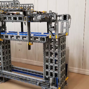 behind the scenes of the lego bridge building machine