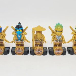 get a look at every one of the lego ninjago golden minifigures