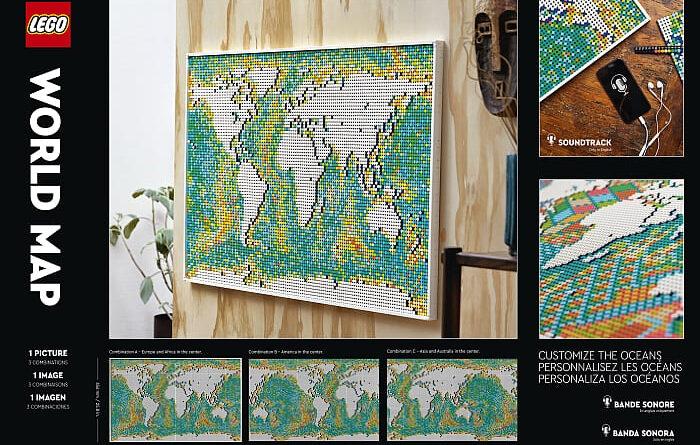 lego art world map mosaic review
