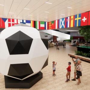 lego house reveals worlds biggest brick built football