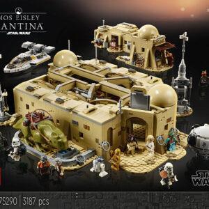mandalorian in mos eisley lego star wars mashup