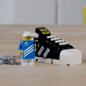 mini lego adidas superstar gwp teased in designer video