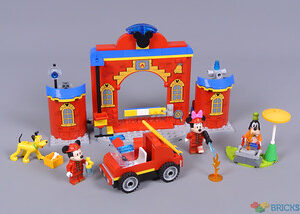 review 10776 mickey friends fire truck station