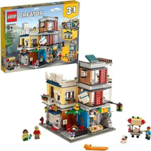 second look at the lego townhouse pet shop cafe