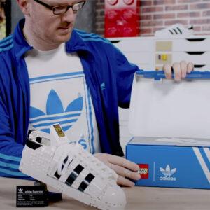 watch lego adidas originals superstar 10282 designer video