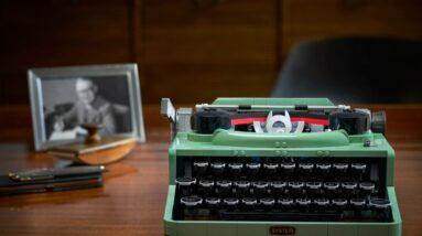 watch lego ideas typewriter 21327 designer video