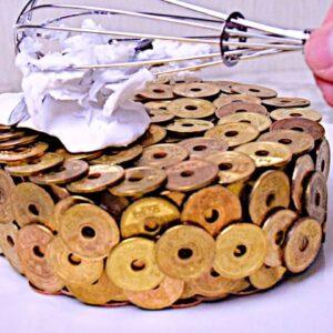Coin Cake! Stop Motion Cooking & ASMR ストップモーション料理