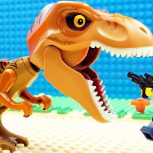Baby Dino vs Police Lego