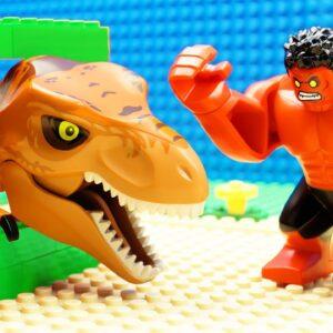 Baby Hulk vs Dino Prison Break - Lego Fail