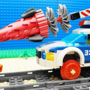 Crane-Truck, Police Car Lego – Dumper Truck Fail
