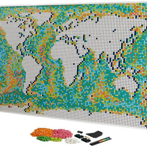 customizing the lego art world map mosaic
