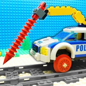 Extreme Bus vs Police Truck Streamroller Fail