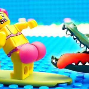 Food Truck vs Safari Beach Fail Lego