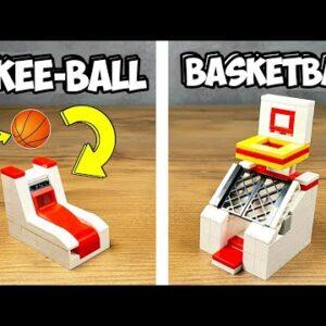 How to make a Lego Arcade Machines - Skeeball - Basketball