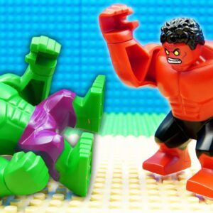 Hulk vs Red Hulk Marvel Heroes Lego