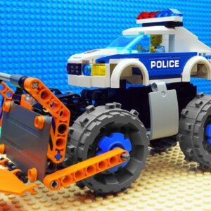 Lego Bulldozer Truck Police Experimental Steamroller