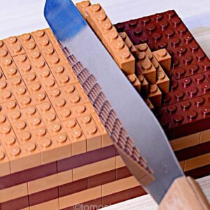 Lego Chocolate Cake - Lego In Real Life 10 / Stop Motion Cooking & ASMR