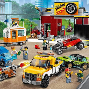 lego city tuning garage review modifications