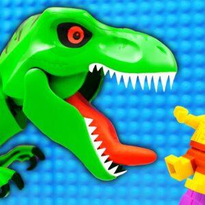 Lego Dinosaur Park Parkour Fail