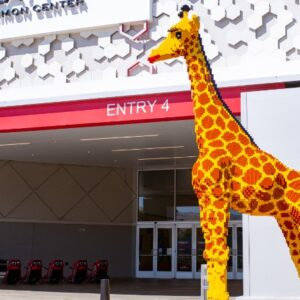 lego giraffe named by its real life counterpart
