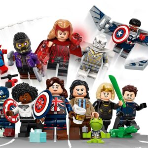 lego marvel minifigures series revealed featuring characters from loki wandavision and what if