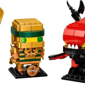 lego ninjago 10th anniversary brickheadz 40490 back in stock via lego uk