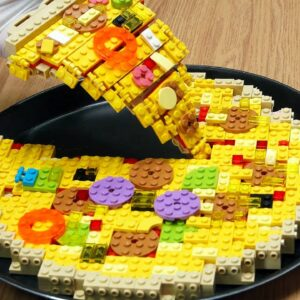 Lego Pizza - Lego In Real Life / Stop Motion Cooking & ASMR