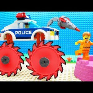 Lego Police Experimental Excavator Car Kinetic Sand Fail