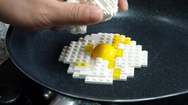Lego sandwich - Lego In Real Life 2 / Stop Motion Cooking & ASMR