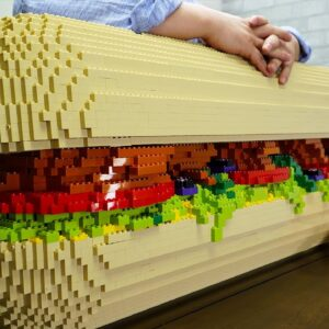 Lego Sandwich - Lego In Real Life 9 / Stop Motion Cooking & ASMR