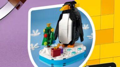 lego seasonal christmas penguin set revealed